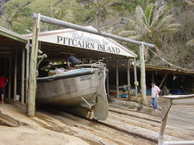 Pitcairn, the remote island where the Bounty mutineers hid from the British Navy for thirty years, and where 41 of their descendents still live.