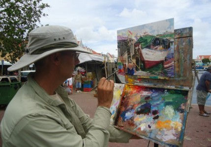 Art Foundation Curaçao organiseert zaterdag in Punda 3e editie Plein Air Curaçao Paint Out | Foto DMO