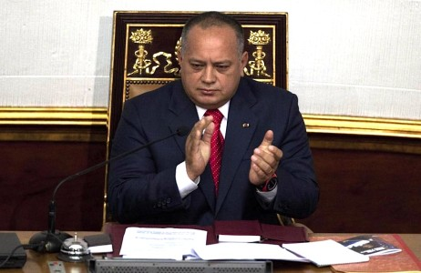 National Assembly President Diosdado Cabello is asking courts to bar news executives from leaving the country while he's suing them for alleged defamation | Foto AP Photo/Ariana Cubillos