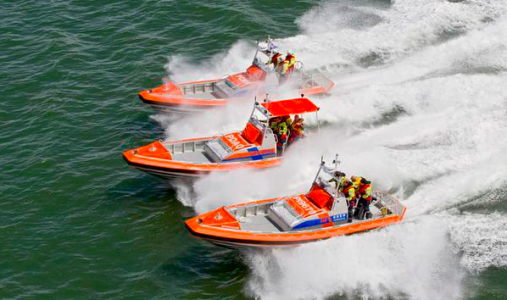 Self righting lifeboats for Curaçao