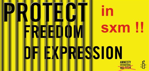 Freedom of Expression - Sint Maarten - Free Judith Roumou 20150630