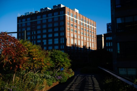 This Manhattan building on 10th Avenue in Chelsea, seen from the High Line, contains a data center used by Pinnacle — an indication that the company has a presence on American soil