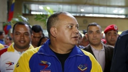 Diosdado Cabello (centre) dismissed allegations made by Mr Nieves, saying he had been bribed