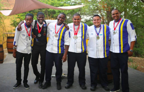 Curacao Culinary Team with Jereld Balentien, Fabian Cleopa, Danny Ribeiro and Carlos Anthonij at Landhuis Chobolobo | Foto Chata