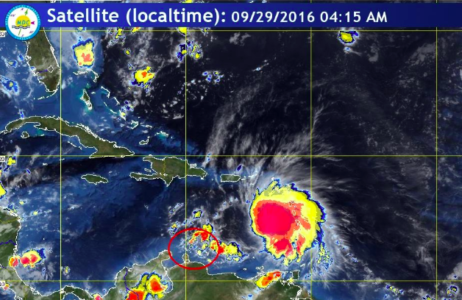 Tropical storm Matthew is foreseen to pass as a hurricane at a safe distance