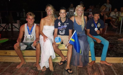 Curacao with 5 Gold, 1 Silver and 6 Bronze medals